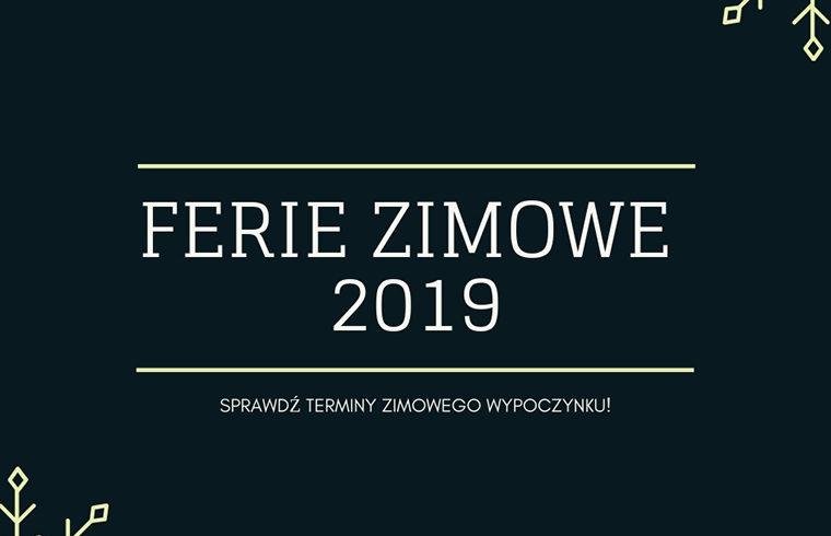 FERIE ZIMOWE 2019